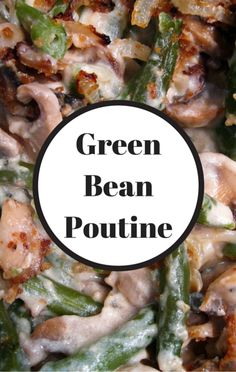 Michael Symon shared a unique take on poutine, making it with green beans instead of french fries, making it a little healthier of a dish.