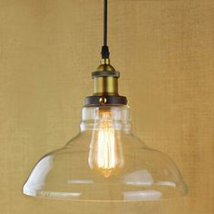 Vintage Glass Pendant light Modern Lamp for Bar Restaurant Bedrooms Dining room lighting. Product ID: Industrial Pendant Lights, Kitchen Pendant Lighting, Modern Pendant Light, Glass Pendant Light, Pendant Light Fixtures, Pendant Lamps, Café Restaurant, Decoration, Bulb