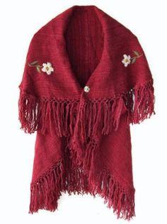 ruanas y chalinas tejidas en telar 100 % fibra de llama