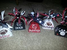 Football cowbells Football Spirit, Football Cheer, Bears Football, Wolfpack Football, Football Moms, Football Season, Softball, Baseball, High School Crafts