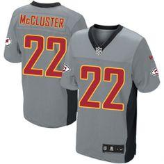 Men's Nike Kansas City Chiefs #22 Dexter McCluster Elite Grey Shadow Jersey $129.99