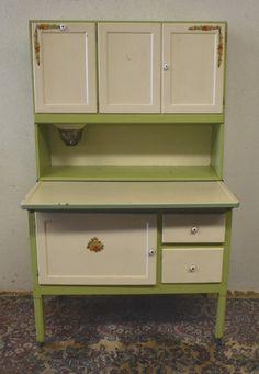 Antique 1920's Hoosier Cabinet with Flour Sifter Porcelain Top Vintage   eBay