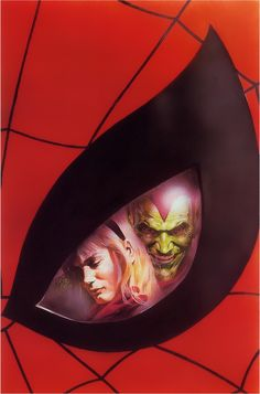 Spider-Man, Gwen Stacy and the Green Goblin by Alex Ross