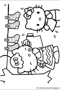 Hello Kitty Coloring Pages free For Kids | Educational Fun Kids Coloring Pages and Preschool Skills Worksheets