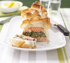 The ultimate makeover: Salmon en croûte recipe - Recipes - BBC Good Food 331kcal