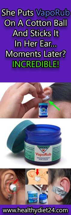 She Puts VapoRub On A Cotton Ball And Sticks It In Her Ear… Moments Later? INCREDIBLE