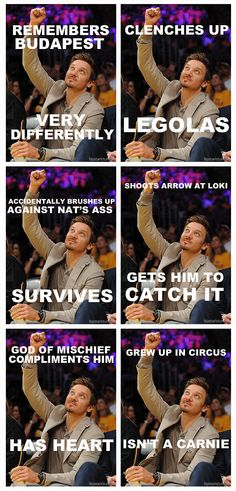 Jeremy Renner is amazing in his AMAZINGNESS