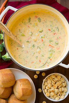 Cheesy Vegetable Chowder {AKA Broccoli Cheese Potato Soup} - Cooking Classy
