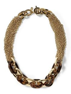 Michael Kors Multichain Link Toggle Necklace | Piperlime