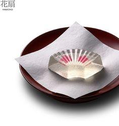 Japanese Sweets, wagashi, Fan-shaped summer jelly