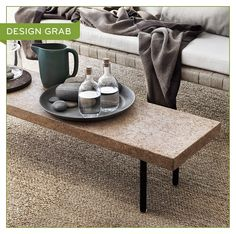 IKEA SINNERLIG Coffee Table | Soft-to-the-touch cork tops a sleek, compact coffee table. The dimensions suit condos and smaller spaces. (Also available in dark brown.) Learn more » http://www.ikea.com/ca/en/catalog/categories/collections/31586/