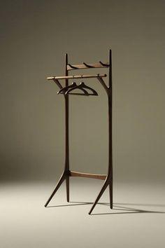 """outofstockhk: """" Takumi Kohgei series Creer Hanger Rack W94cm x D45cm x H190cm Material: Walnut Wood Designer: Ebina Noriyuki MADE IN JAPAN http://ift.tt/1K7aMKu http://ift.tt/1aM5b0e """""""