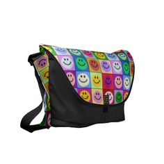 cute colorful smiley face bag
