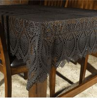 Beau Day Of The Dead Decor   Black Vinyl Lace Tablecloth For Dining. Halloween  Tablecloth,
