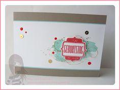 Stampin' Up! Rosa Mädchen Geburtstagskarte mit InColors und Fürs Etikett