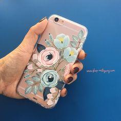 Indigo floral phone case #Milkywaycases #phonecase #iphone