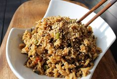 Low-Fat Unfried rice sounds like such an oxymoron, but this is truly delicious! This is such an easy and simple recipe. You don't need many ingredients and it is filling and addictive. My husband absolutely loved it and claimed it tasted just like the stuff we used to consume at the restaurants. I don't know about that...it's not prepared the