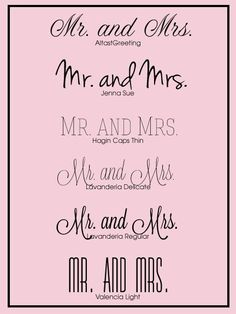 Free wedding fonts you can use within PicMonkey to create luxo wedding invitations.