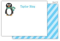 Winter Penguin Flat Note Cards