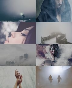 Mist Witches. They arrive out of the grey, and when they leave, it is to the grey they return. it is a shroud, an armor, a wall, which they create and hold strong (and it is strong, despite being only air and water). and, most importantly, it adds an air of mystery.