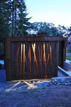 Corten Steel Panels Design Ideas, Pictures, Remodel and Decor
