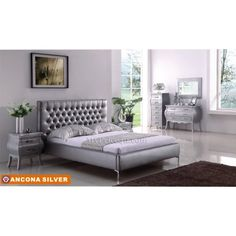 Ancona Silver Collection Platform Bedroom Bed by American Eagle MyPriceForYou.com - Affordable furniture