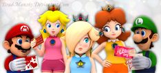 Even Rosalina's good friends at the Mushroom Kingdom needs to show their care at heart. True friendship multiplies the good in life and divides its evils. Strive to have friends, as life . Super Mario Princess, Mario And Princess Peach, Nintendo Princess, Princess Daisy, New Super Mario Bros, Super Mario Art, Super Mario Brothers, Mario Kart 8, Mario Bros.