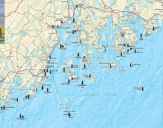 Map Of Lighthouses Of Maine Creativehobby Store