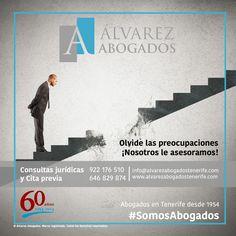 Olvide las preocupaciones ¡Nosotros le asesoramos! http://alvarezabogadostenerife.com/?p=5430 #SomosAbogados