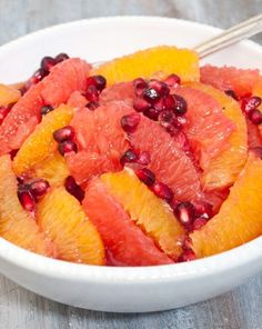 Citrus and Pomegranate Salad, Winter Fruit Salads.. I need to make lots of fruit recipes this winter!