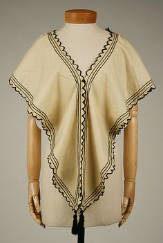 Hood 1865–70 Culture: British Medium: wool, silk, cotton - lots more photos from every direction.  This is a seriously cool garment.