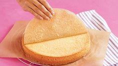 Grundrezept Biskuitteig für die Springform, 2-mal durchschneiden Rezept: Gestalten Sie Ihre Torte ganz nach Ihren Wünschen und nutzen dieses Rezept als Grundlage für einen Tortenboden - Eins von 7.000 leckeren, gelingsicheren Rezepten von Dr. Oetker!