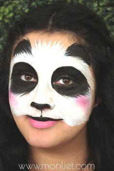 Panda Face Painting, Bear Face Paint, Dinosaur Face Painting, Tiger Face Paints, Girl Face Painting, Painting For Kids, Panda Makeup, Kids Makeup, Makeup Ideas