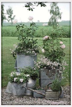 Flower arrangements in birch bark sleeves rustic centerpieces ...