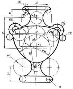 Занимательное спряжение Mechanical Engineering Design, Mechanical Design, Isometric Drawing Exercises, Solidworks Tutorial, Art Shed, Geometric Drawing, Geometry Art, Cad Drawing, Drawing Practice