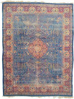 Blue 8 x Birjand Persian Rug Blue Persian Rug, Iranian Art, Rugs On Carpet, Carpets, Bohemian Rug, Oriental, Area Rugs, Rug Patterns, Dining Room
