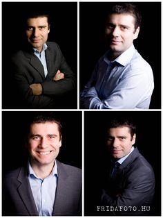 Üzleti férfi portré / Men business headshot Character, Lettering