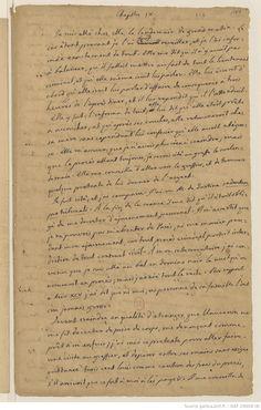 Extraits du manuscrit ancien de histoire de ma via par giacomo casanova