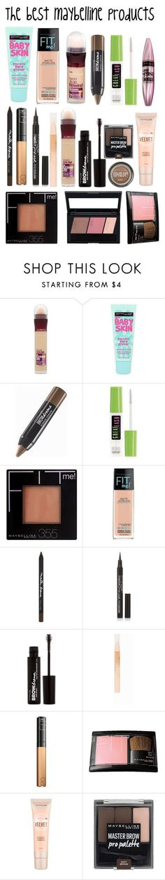 """The best maybelline products"" by sabrinagirl17 ❤ liked on Polyvore featuring beauty and Maybelline"