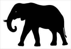 Elephant Silhouette Silhouette Graphics
