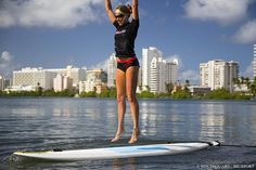 SUP Burpees on a Standup Paddle Board