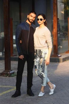 Promotion of Bajirao Mastani -- Ranveer Singh and Deepika Padukone at Promotion of Bajirao M Picture # 325009 Deepika Ranveer, Ranveer Singh, Deepika Padukone, Indian Film Actress, Together Forever, Bollywood Stars, Bollywood Celebrities, Best Couple, Dimples