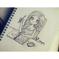 I love iittttt! She is drawing too! <3
