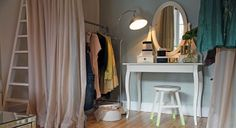 Hemnes Dressing table with mirror, IKEA.
