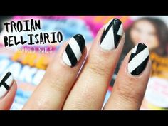 ▶ Geometric Nails ♥ TROIAN BELLISARIO Seventeen Magazine - YouTube