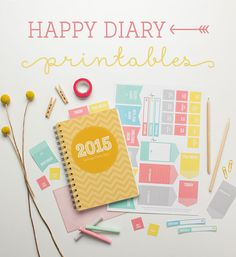 FREE printable Happy Diary stickers