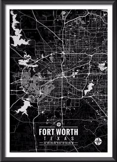Fort Worth Texas Map with Coordinates