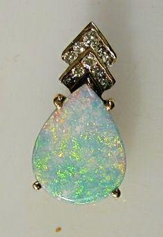 Pendant, Opal and Diamonds