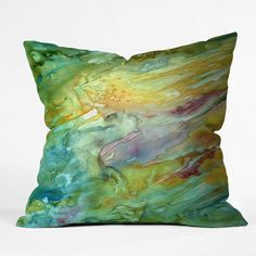 Rosie Brown Sea Fantasy Throw Pillow   DENY Designs Home Accessories