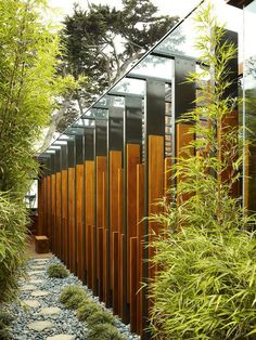exterior design ideas asian style stone paths bamboo trees